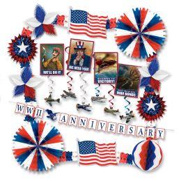 Vintage Patriotic Armed Forces Dec Kit Piece Count 25