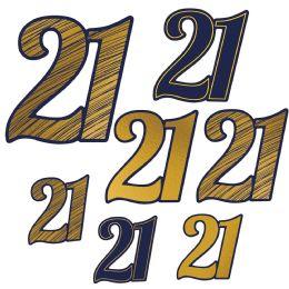12 of 21 Foil Cutouts Foil 2 Sides/prtd 1 Side; 3-5 , 3-8 , 1-11