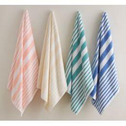 12 of Beach Towel Peach Stripe 100% Ring Spun Cotton