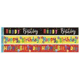 96 of Birthday Foil Banner In Black