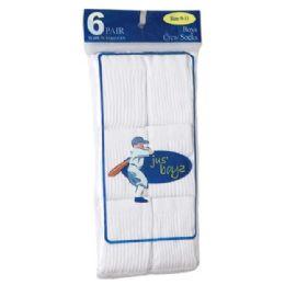36 of Boy's Crew Socks Assorted Size 6-8