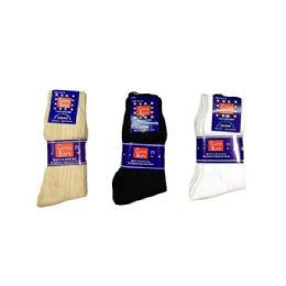 144 of Boys Nylon Dress Socks Size 7-9 In White