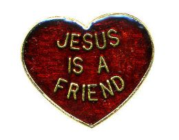 "96 of Brass Hat Pin, ""jesus Is A Friend"""