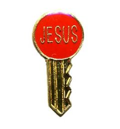 "96 of Brass Hat Pin, ""jesus"" Key,"