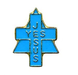 "96 of Brass Hat Pin, ""yes Jesus"","