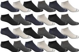 24 of Bulk Pack Womens Light Weight No Show Low Cut Breathable Socks, Solid Assorted Colors, Size 9-11