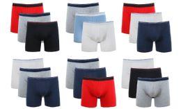 36 of Cotton Stretch Men's Boxer Short Assorted Colors Size M
