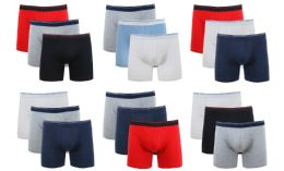 36 of Cotton Stretch Men's Boxer Short Assorted Colors Size L