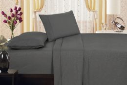 6 of Embossed Vine Sheet Set King Size In Assorted Colors