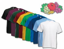 72 of Fruit Of The Loom Mens Assorted T Shirts, Assorted Colors Size Small