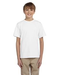 72 of Fruit Of The Loom Youth Boys White T Shirts - Size 6/8
