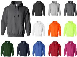 24 of Gildan Adult Hoodies Assorted Color And Sizes