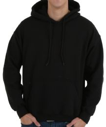 30 of Gildan Mens Black Irregular Fleece Hoodie Size Xxl