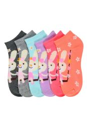432 of GIRLS ANKLE SOCK PRINTED BUNNY DESIGN SIZE 4-6