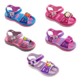 60 of Girls Cartoon Sandal In Blue And Pink