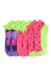 432 of Girls Fruit Printed Ankle Socks Size 6-8