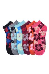 432 of Girls Printed Casual Spandex Ankle Socks Size 6-8