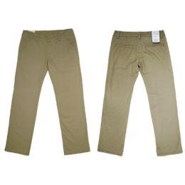 12 of Girls Stretch Adj. Waist Twill School Pants Size 14
