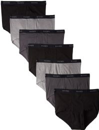 144 of Hanes Mens Assorted Colors Briefs Size Large