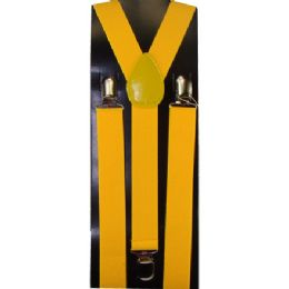 12 of Kids Solid Yellow Color Suspenders