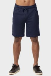 12 of Knocker Mens Lightweight Terry Shorts In Navy Size Large