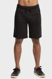 12 of Knocker Mens Lightweight Terry Shorts In Black Size X Large