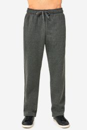 12 of Knocker Mens Slim Fit Fleece Heavy Weight Sweat Pants Charcoal Grey In Size Medium
