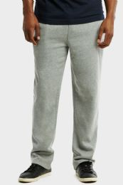 12 of Knocker Mens Slim Fit Fleece Hevy Weight Sweat Pants Heather Grey In Size Large