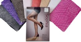 48 of Ladies' Fishnet Pantyhose Queen Size In Black