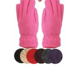 24 of Ladies Thermal Fleece Glove Black Only