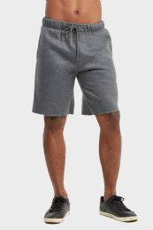 12 of Libero Mens Fleece Shorts In Charcoal Grey Size Small