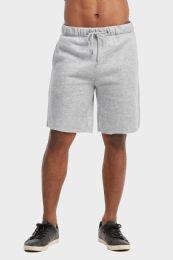 12 of Libero Mens Fleece Shorts In Heather Grey Size Large