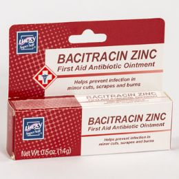 24 of Lucky Bacitracin Zinc First Aid Antibiotic Ointment 0.5oz Boxed
