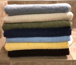 12 of Majestic Luxury Long Lasting Cotton Bath Towel In Size 27x52 In Sage Green