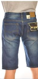 24 of Fashion Denim Shorts Medium Blue Color In Assorted Sizes