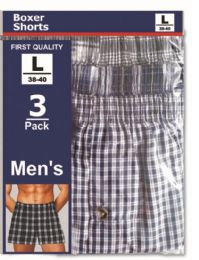 48 of Men's 3 Pack Boxer Shorts Size Xlarge