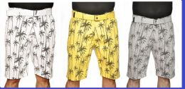24 of Men's Fashion Printed Palm Tree Chino Short