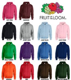24 of Men's Fruit Of The Loom Irregular Hoodies ,size 2xl
