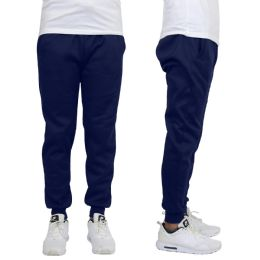 24 of Men's Heavy Weight Joggers In Navy Size M
