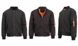 12 of Men's Heavyweight MA-1 Flight Bomber Jackets Black Size X Large