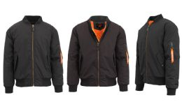 12 of Men's Heavyweight MA-1 Flight Bomber Jackets Black Size Xx Large