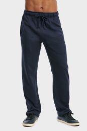 36 of Men's Lightweight Fleece Sweatpants In Navy Size xl