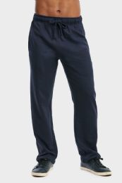 36 of Men's Lightweight Fleece Sweatpants In Navy Size 2xl