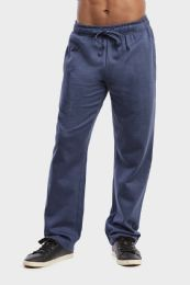 36 of Men's Lightweight Fleece Sweatpants In Navy Mrl Size L