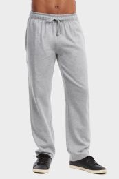36 of Men's Lightweight Fleece Sweatpants In Heather Grey Size L
