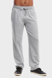 36 of Men's Lightweight Fleece Sweatpants In Heather Grey Size 2xl