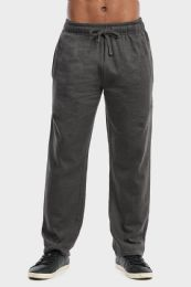 36 of Men's Lightweight Fleece Sweatpants In Charcoal Size L