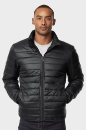 12 of Men's Puff Jacket In Black Size Small