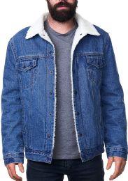 12 of Mens Denim Fleece Jacket