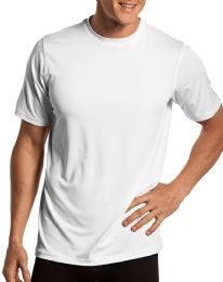 60 of Mens Cotton Short Sleeve T Shirts Solid White Size L